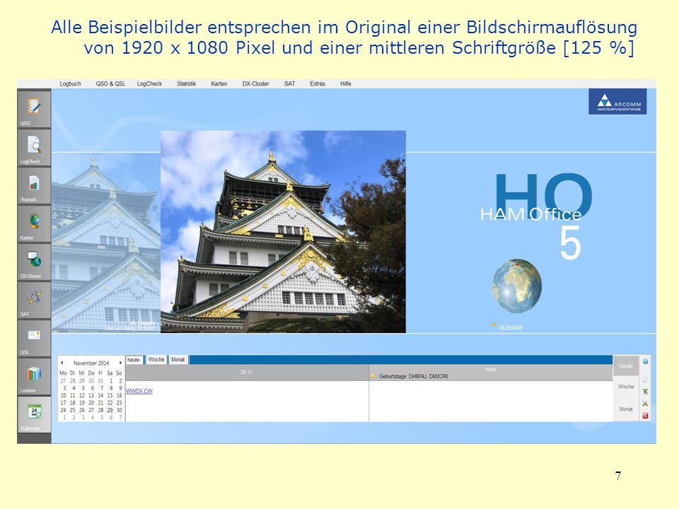Alle Beispielbilder entsprechen im Original einer Bildschirmauflösung von 1920 x 1080 Pixel und einer mittleren Schriftgröße [125 %]
